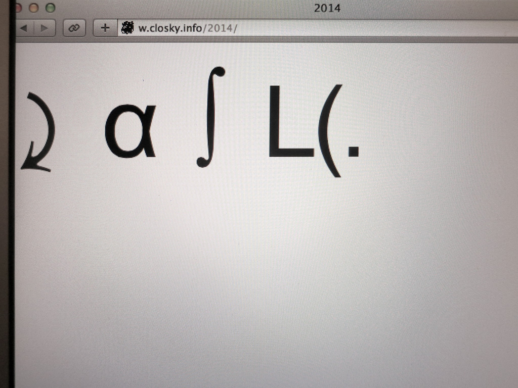 Claude Closky, '2014,' 2013, interactive website, Php (http://w.closky.info/2014).