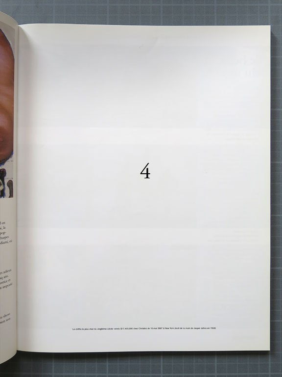 Claude Closky, '4,' 2008, Paris: BC magazine no. 2 (spring), p. 39 & 77.
