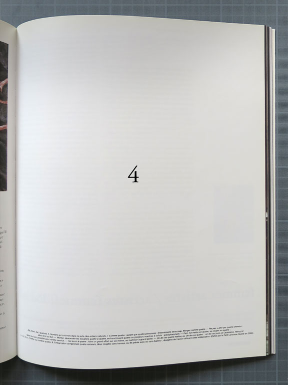 Claude Closky, '4,' 2008, January-March. Paris: BC magazine no. 2, p. 39 & 77.