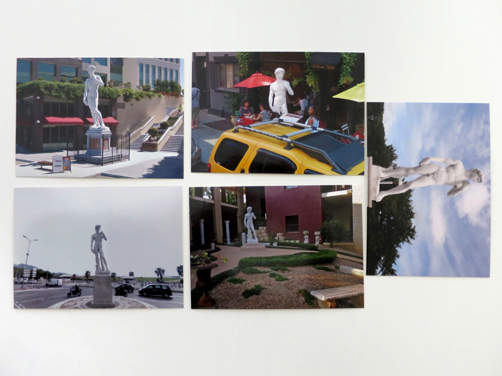 Claude Closky, '5 continent (David)', 2012-2015, five postcards, offset print on 350 g. card, each 10,5 x 15 cm.