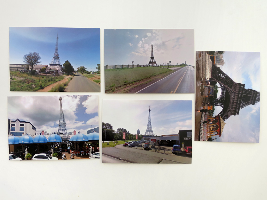 Claude Closky, '5 continent (Eiffel Tower)', 2012-2015, five postcards, offset print on 350 g. card, each 10,5 x 15 cm.