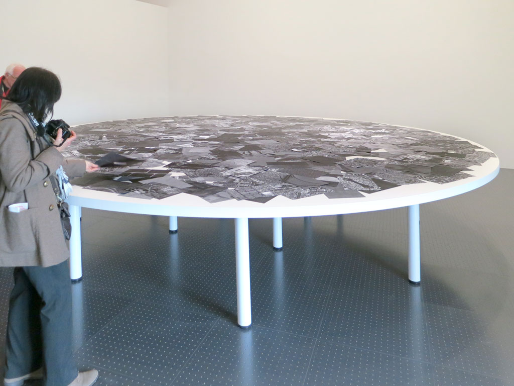 Claude Closky, 'A Flat World', 2009, black and white laser duplex printing, 80g A4 paper, table, 20 m2.