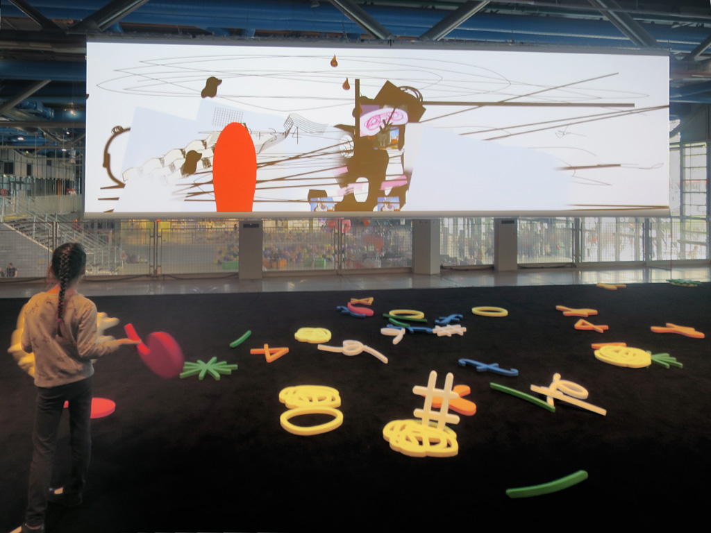 Claude Closky, 'A five-year-old could do it!,' 2017-2018, interactive video installation, dimensions variables. Installation view, Kids Gallery, Centre Pompidou