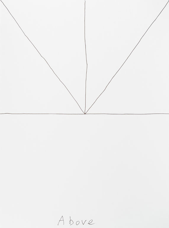Claude Closky, 'Above (b)', 2013, black ballpoint pen on paper, 40 x 30 cm.
