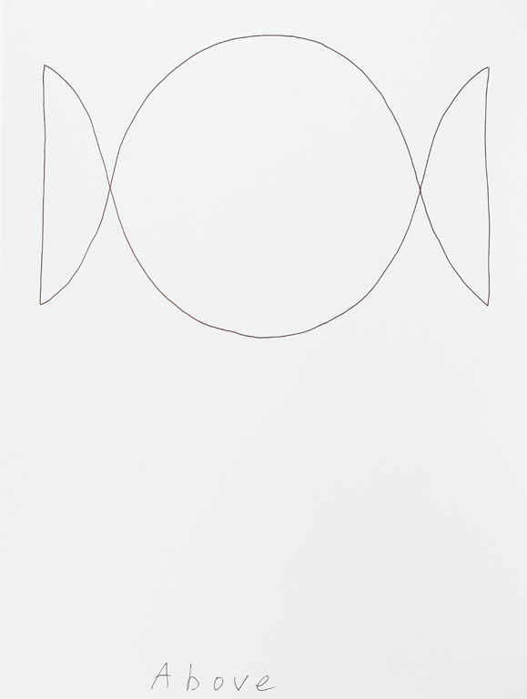 Claude Closky, 'Above (e)', 2013, black ballpoint pen on paper, 40 x 30 cm.