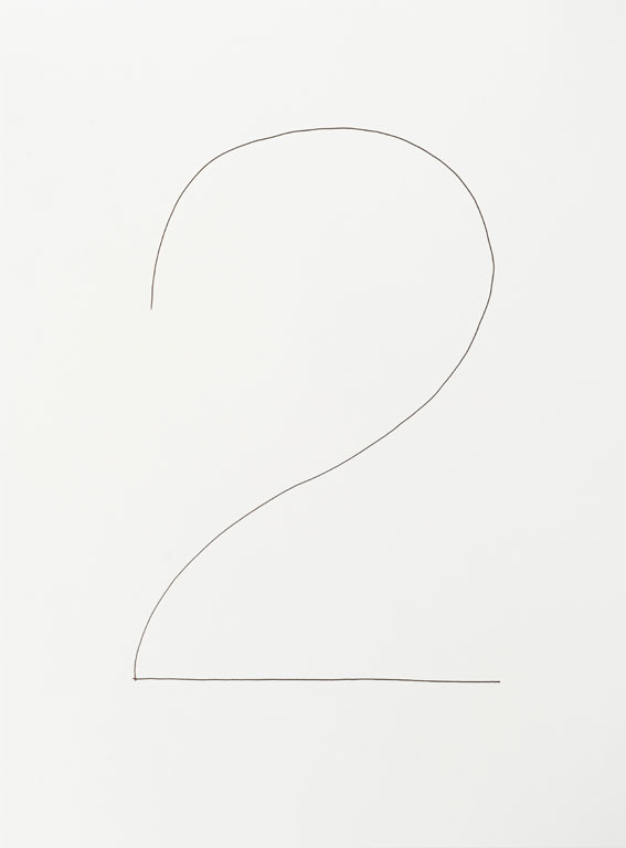 Claude Closky, 'And (d)', 2013, black ballpoint pen on paper, diptych, twice 40 x 30 cm.