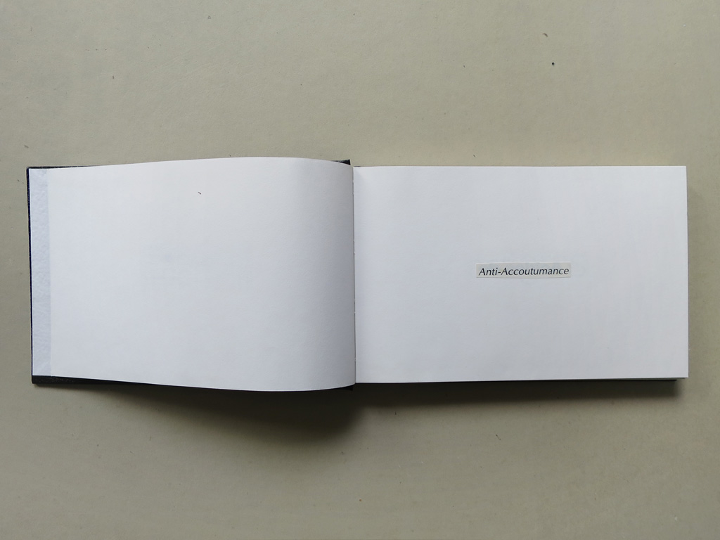 Claude Closky, 'Anti-rondeurs', 1995, collage on sketch pad, 200 pages, 14 x 25 cm.