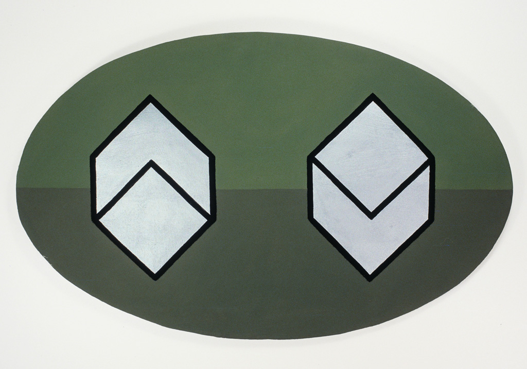 Claude Closky, 'Balls,' 1986, acrylic on canvas pasted on wood, 88 x 55 cm.