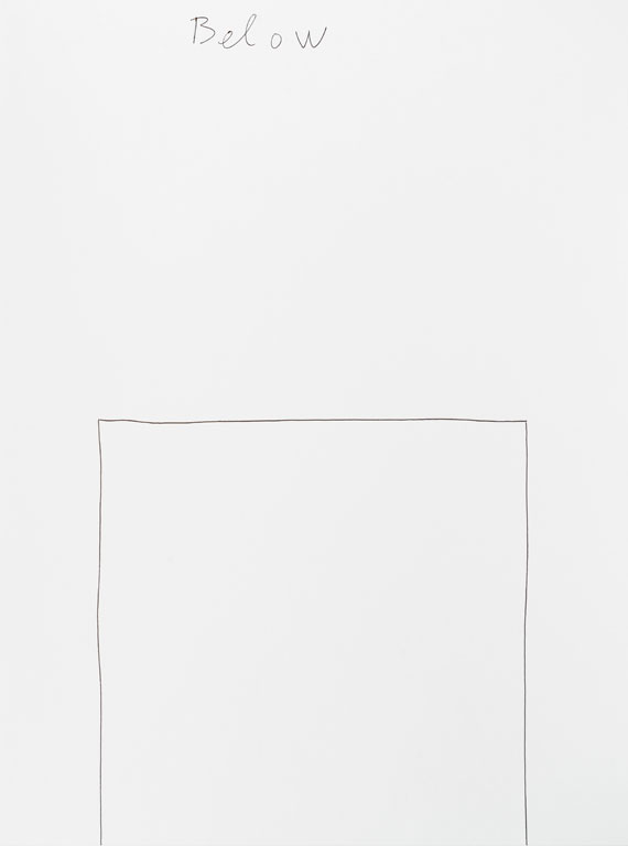 Claude Closky, 'Below (d)', 2013, black ballpoint pen on paper, 40 x 30 cm.