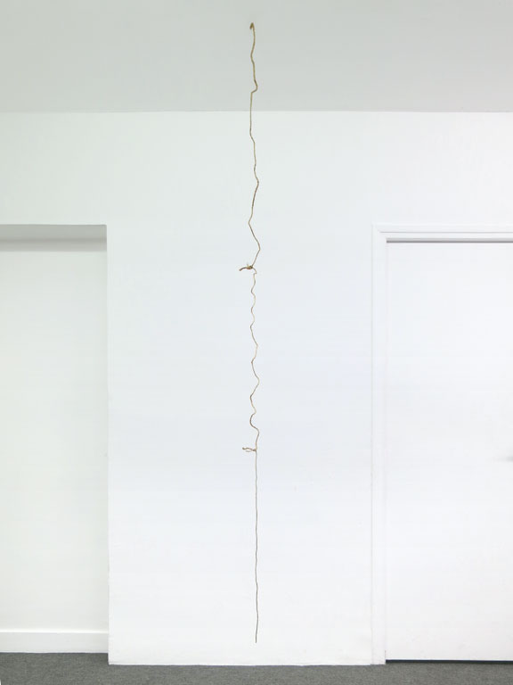 Claude Closky, 'Bits of String Classified By Thickness', 1992, string, 300 cm.
