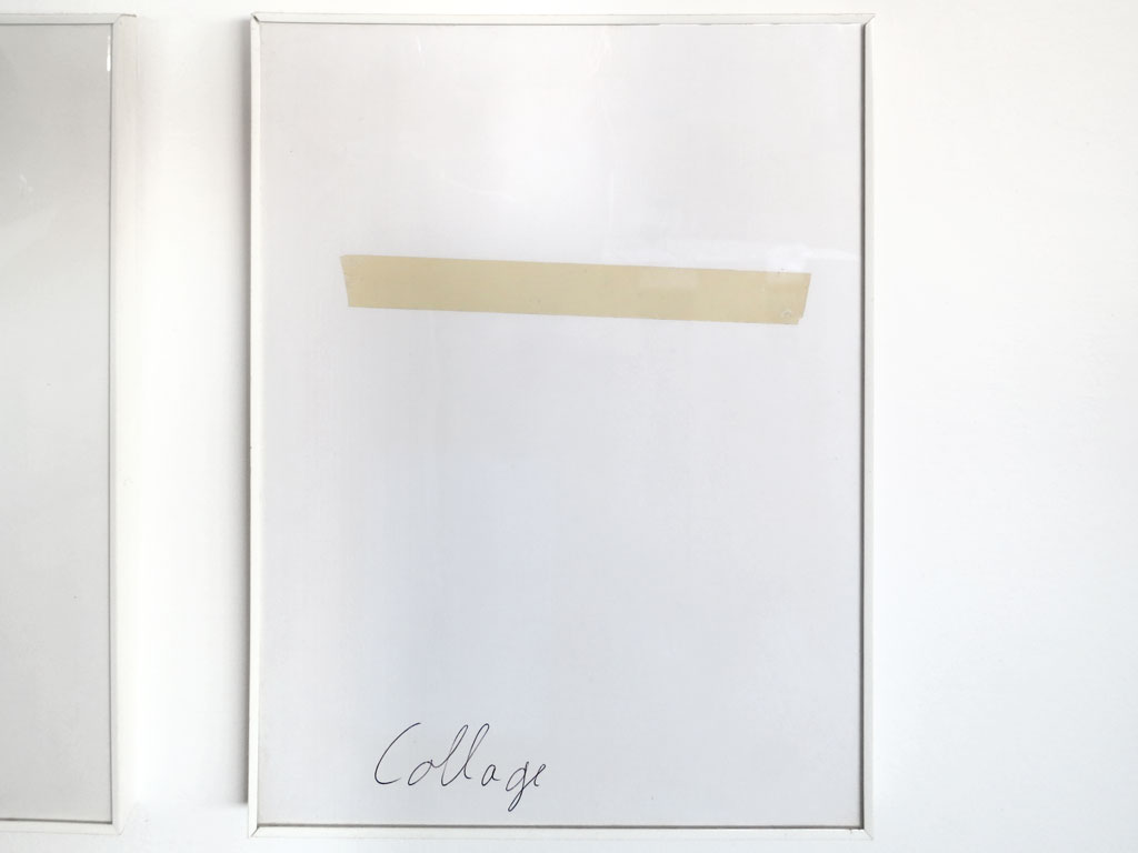 Claude Closky, 'Collage', 1990, tape and ballpoint pen on paper, 30 x 24 cm.
