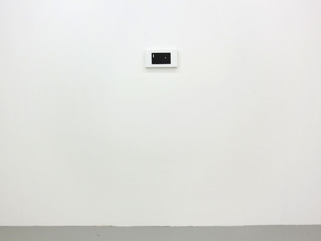 Claude Closky, 'Contact', 2012, 7 inch pad, program, stereo sound, unlimited duration. Exhibition view detail of 'Animations', Le Quartier, Centre d'art contemporain, Quimper, 2012. Curated by Keren Detton
