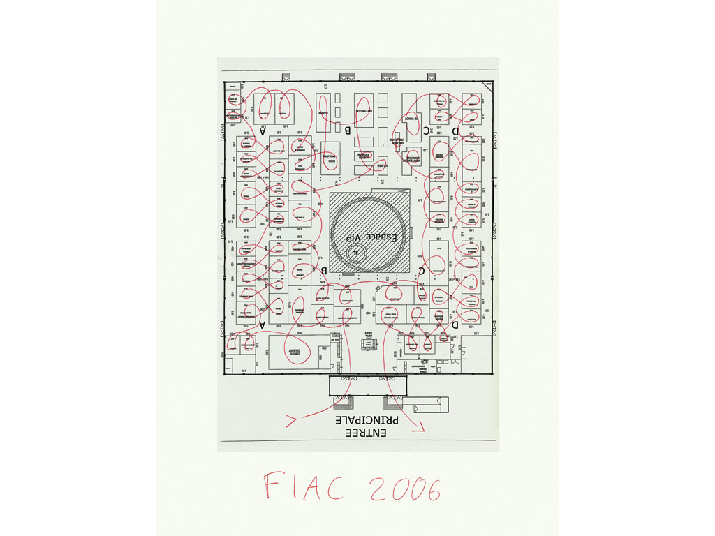 Claude Closky, 'FIAC 2006 #2', 2006, ballpoint pen and collage on paper, 40 x 30 cm.