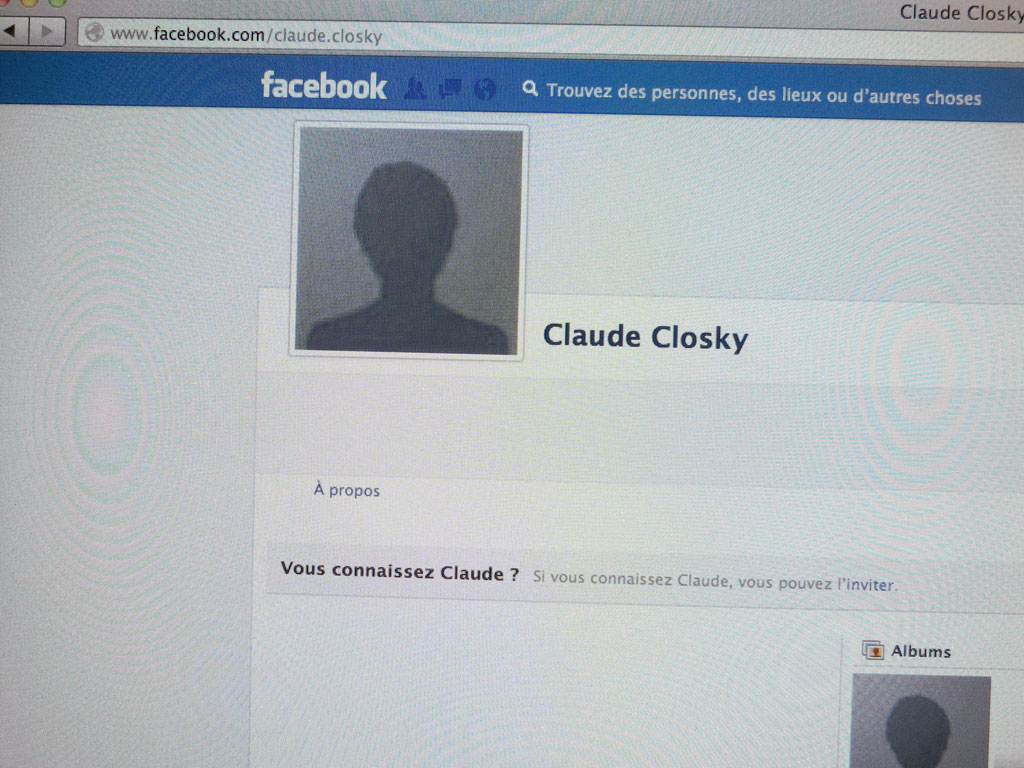 Claude Closky, 'Faceless', 2010, web site (http://www.facebook.com/claude.closky).