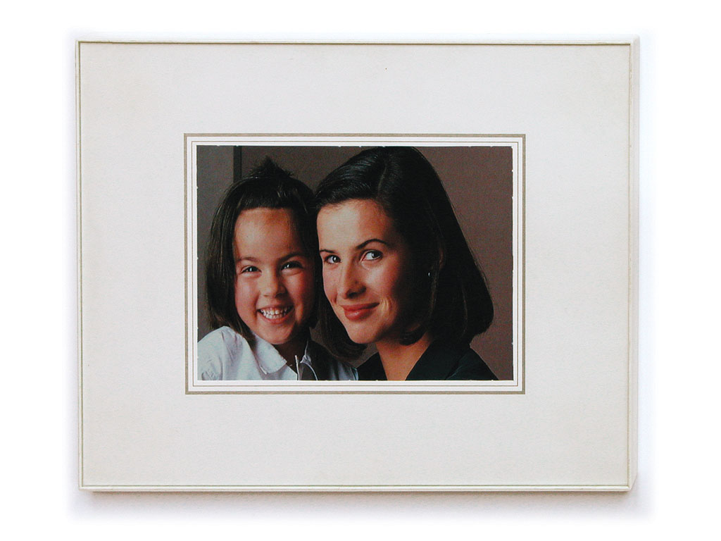 Claude Closky, 'Family Snapshot 13', 1993, collage, plastic frame, 24 x 18 cm.