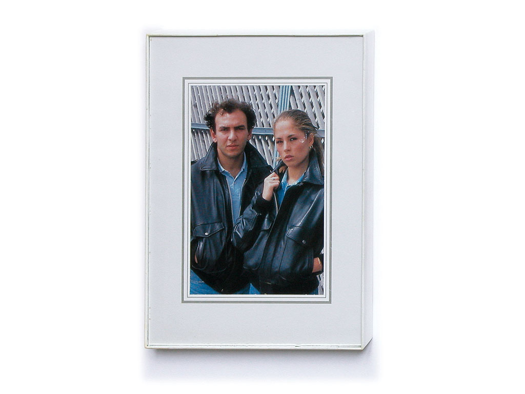 Claude Closky, 'Family Snapshot 21', 1993, collage, plastic frame, 17,5 x 13 cm.