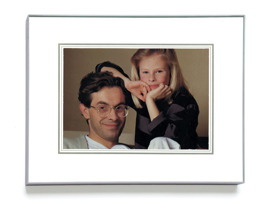 Claude Closky, 'Family snapshot 27 (Coopérative fromage)', 1993, collage, plastic frame, 24 x 30 cm.
