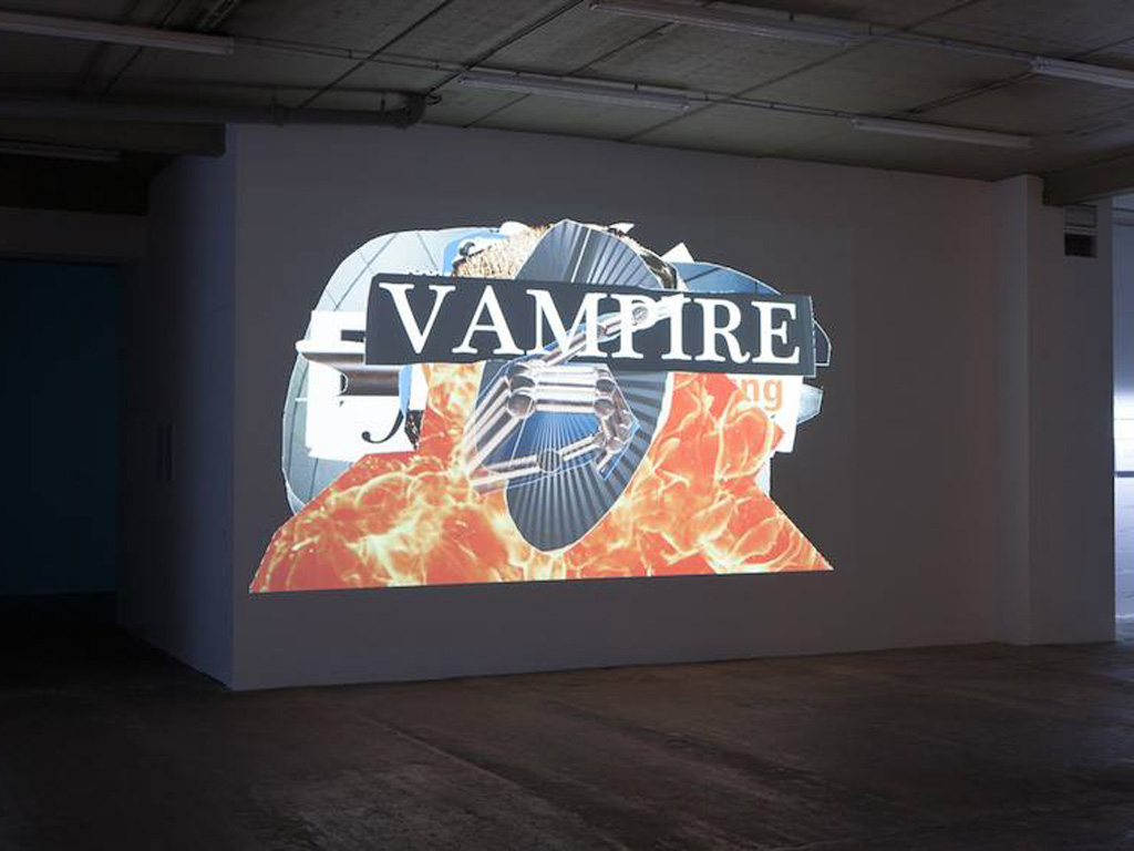 Claude Closky, 'Forefront,' 2015, stereo video projection, Raspberry Pi, Linux Processing application, unlimited duration. Programming by Jean-Noël Lafargue. Exhibition view 'Vampires et fantomes,' Galerie Laurent Godin, Paris. 28 May - 23 July 2016