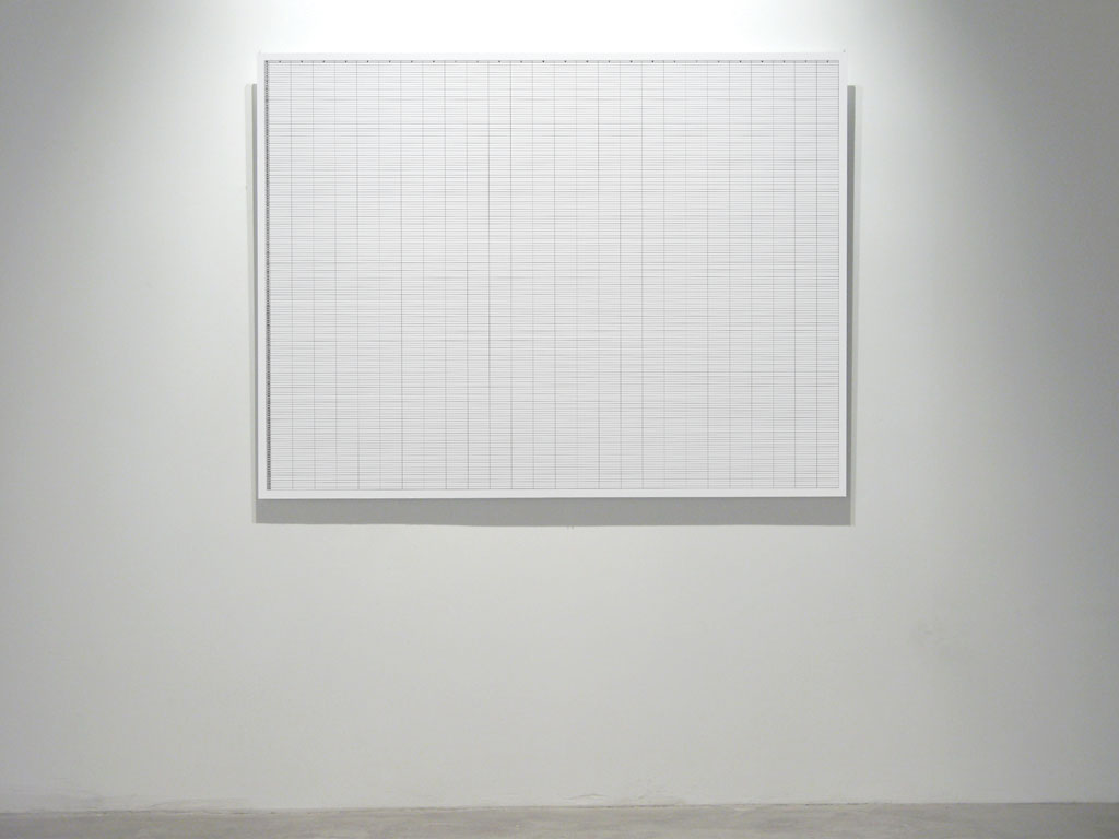 Claude Closky, 'From A to Z, From 1 to 175', 2008, lambda print mounted on aluminum (3 mm), 105 x 140 cm. Exhibition view 'Music Video', Han Ji Yun Contemporary Space, Beijing. 19 April - 18 May 2008
