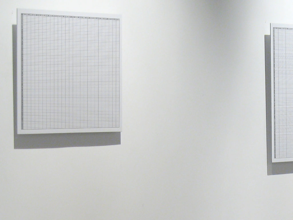 Claude Closky, 'From A to Z, From 1 to 75', 2008, lambda print mounted on aluminum (3 mm), 45 x 60 cm. Exhibition view 'Music Video', Han Ji Yun Contemporary Space, Beijing. 19 April - 18 May 2008