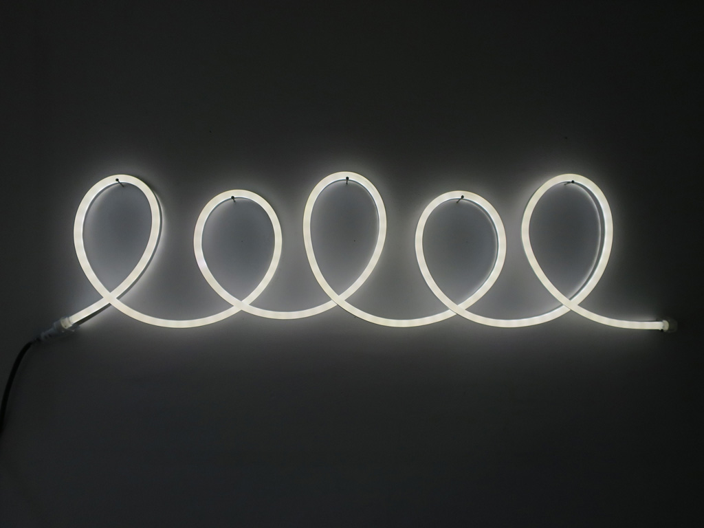 Claude Closky, 'Lelel,' 2015, Paris: Florence Loewy. Led, plastic, electric cable, 22 x 85 cm.