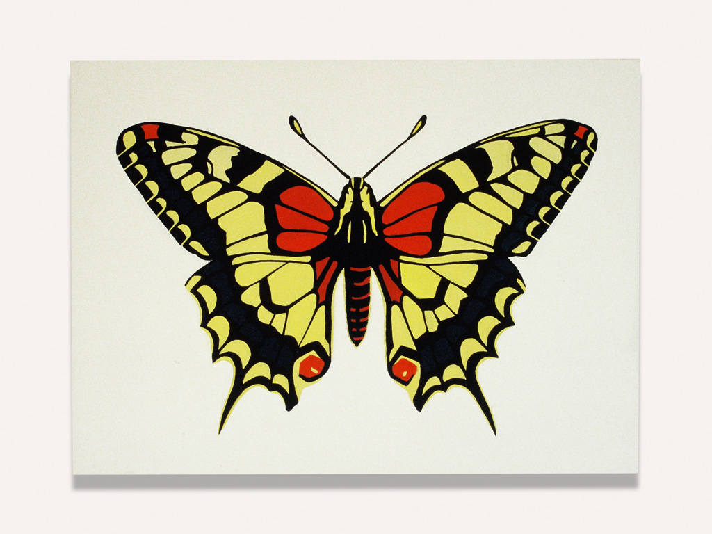 Claude Closky, 'Machaon Butterfly ,' 1987, acrylic on canvas, 73 x 54 cm.
