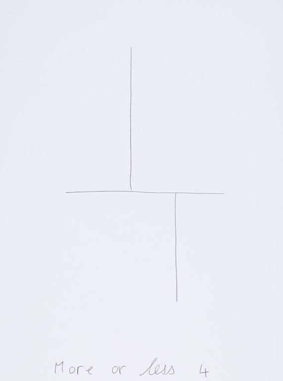 Claude Closky, 'More or Less 4 (t),' 2015, black ballpoint pen on paper, 40 x 30 cm.