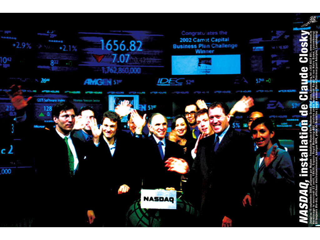 Claude Closky, 'NASDAQ', 2003, invitation card, Luxembourg: Fondation Musée d'art moderne Grand-Duc Jean, offset Print, 84 x 55 cm.