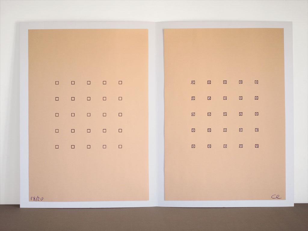 Claude Closky Orange Form 2006 Artist Edition Laser Print And