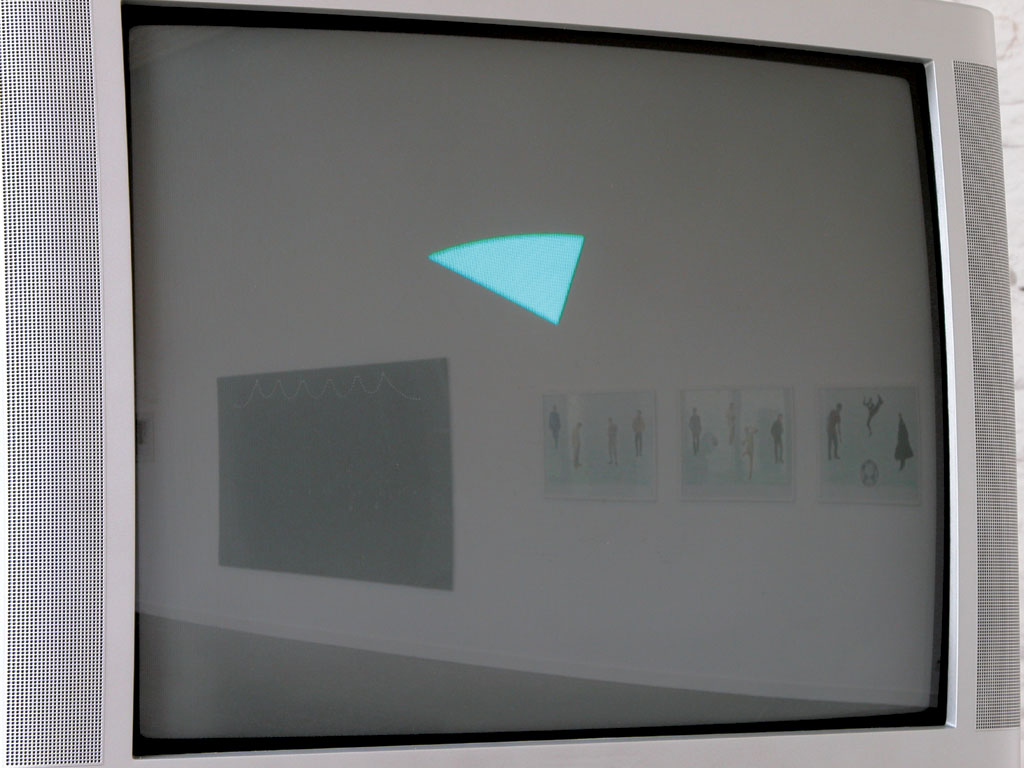Claude Closky, 'Playing a CD', 1998, monitor, dvd, dvd player, silent, 5 minutes. Installation view Domaine de Kerguéhennec Centre d'Art Contemporain, Bignan. 5 April - 15 June 2003. Curated by Frédéric Paul