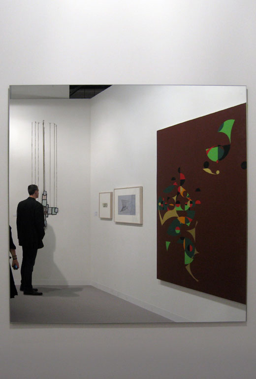 "Claude Closky, 'Selfportrait disguised as a vampire in front of Gerhard Richter ""Mirror"" at ArtBasel', 2009, c print, 45 x 30,5 cm."