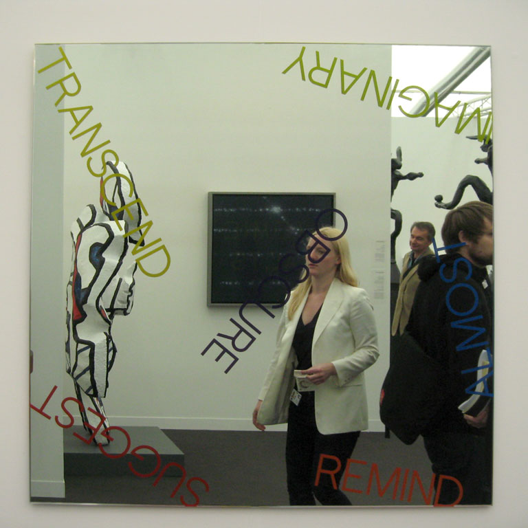 Claude Closky, 'Selfportrait disguised as a vampire in front of a Robert Barry mirror at Frieze, London', 2009, c print, 30,5 x 30,5 cm.