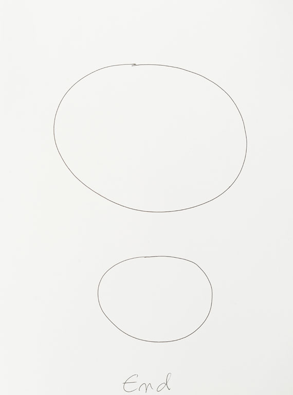 Claude Closky, 'Start, End (c)', 2013, black ballpoint pen on paper, diptych, twice 40 x 30 cm.