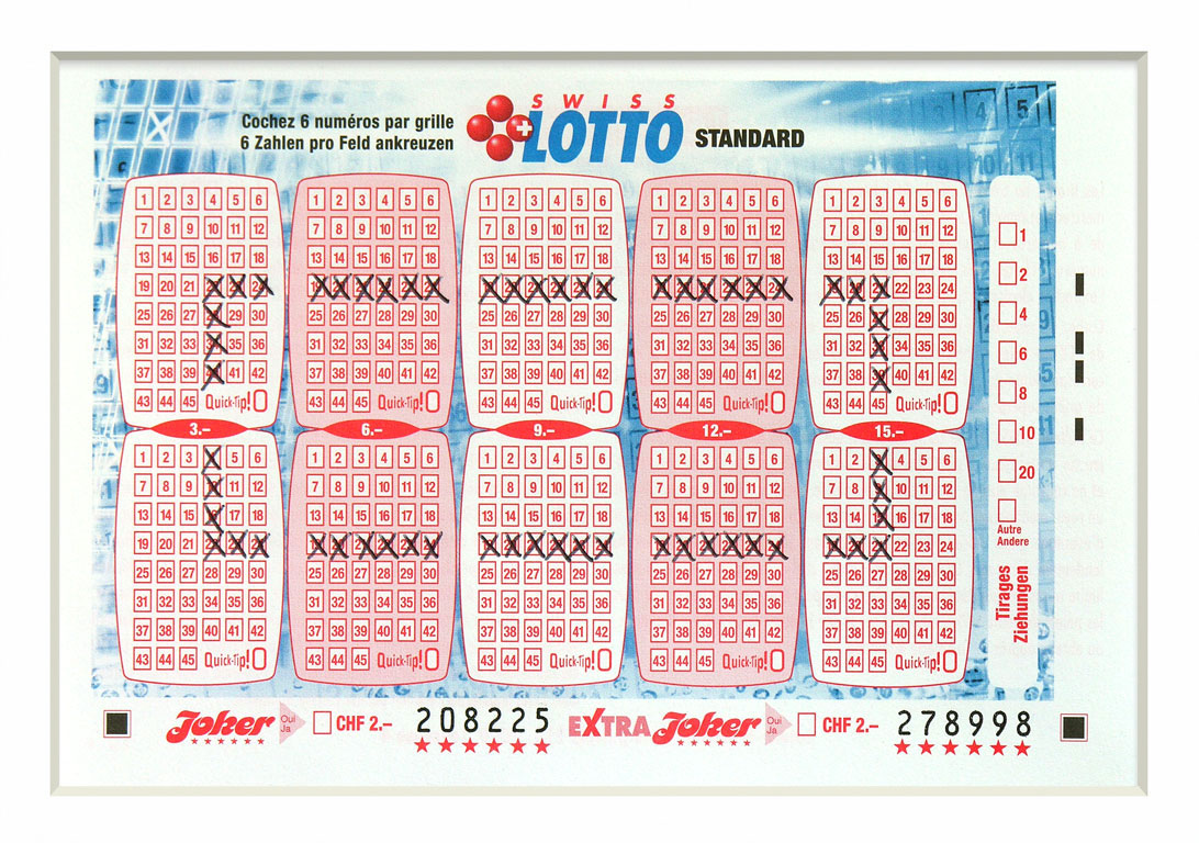 Claude Closky, 'Swiss Lotto Card 208225', 2005, ballpoint pen on printed matter, 11 x 16 cm.