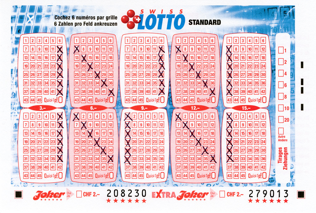 Claude Closky, 'Swiss Lotto Card 208230,' 2005, ballpoint pen on printed matter, 11 x 16 cm.