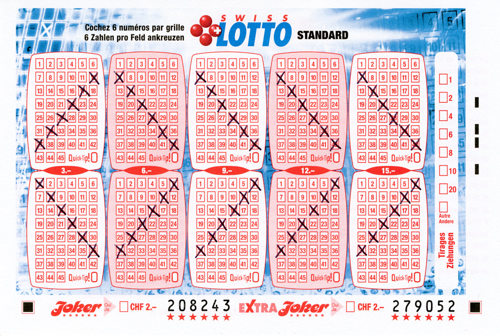 Claude Closky, 'Swiss Lotto Card 208243,' 2005, ballpoint pen on printed matter, 11 x 16 cm.