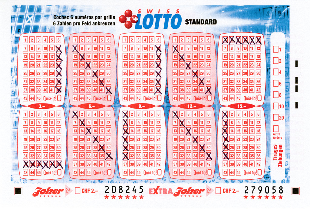 Claude Closky, 'Swiss Lotto Card 208245,' 2005, ballpoint pen on printed matter, 11 x 16 cm.