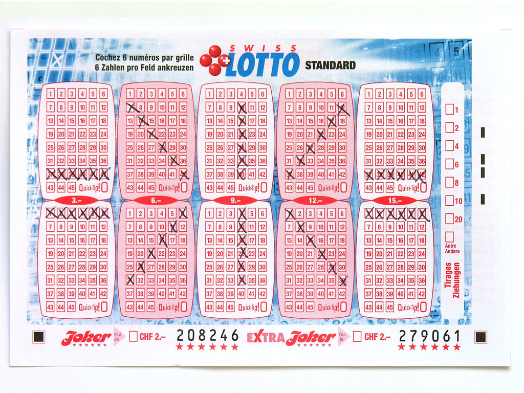 Claude Closky, 'Swiss Lotto Card 208246', 2005, ballpoint pen on printed matter, 11 x 16 cm.