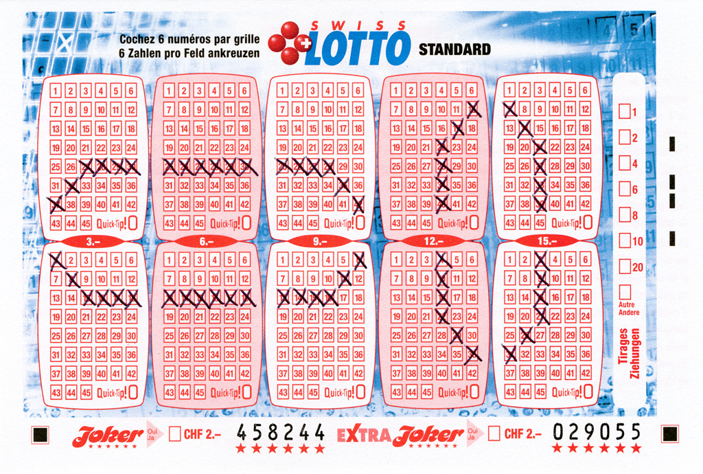 Claude Closky, 'Swiss Lotto Card 458244,' 2005, ballpoint pen on printed matter, 11 x 16 cm.