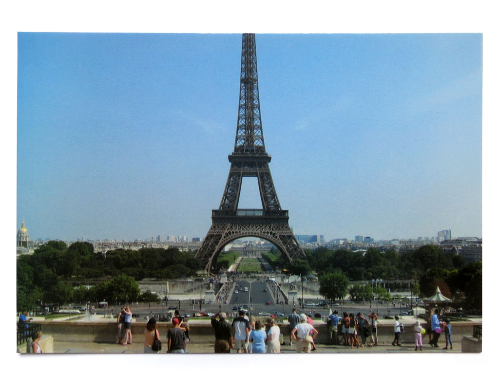 Claude Closky, 'The Eiffel tower', 2007, Paris: Iesa. Postcard, offset print, 10,5 x 15 cm.
