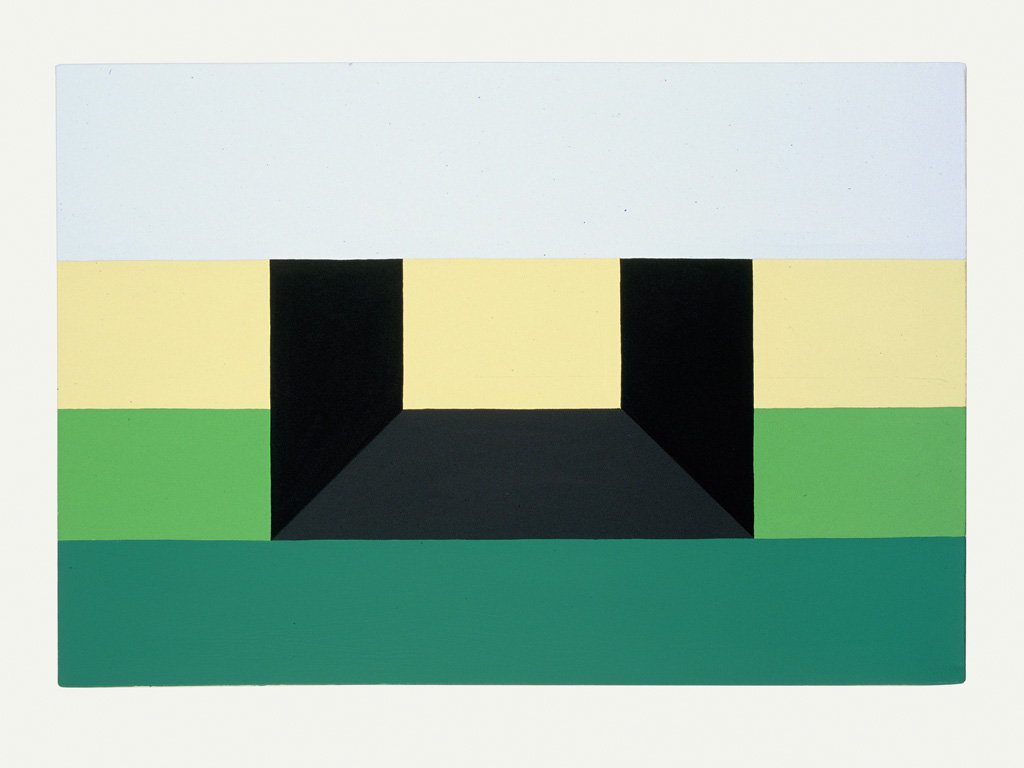 Claude Closky, 'To Mow the Lawn,' 1988, acrylic on canvas, 38 x 55 cm.