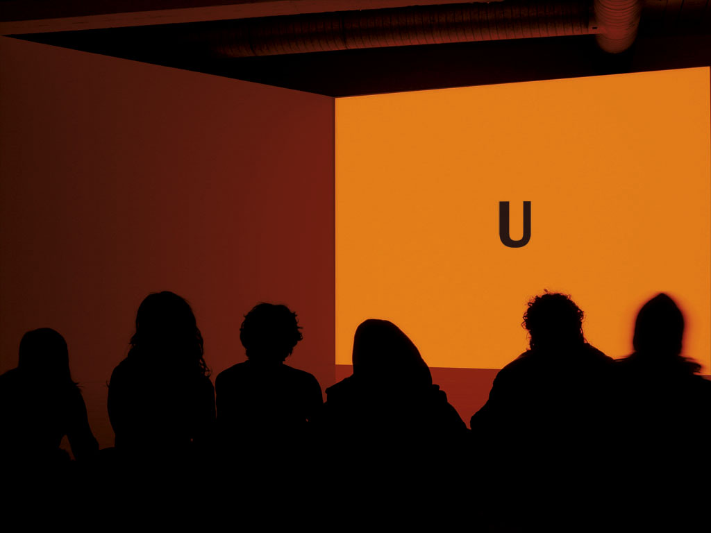 Claude Closky, 'U,' 2002-2004, video installation, computer, 2 walls, 2 projectors, 4 x 8 x 7 m, loop.