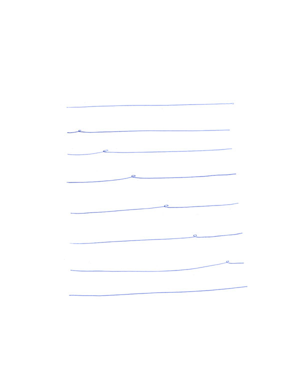 Claude Closky, 'Untitled (6 loops)', 1994, ballpoint pen on paper, 30 x 24 cm.