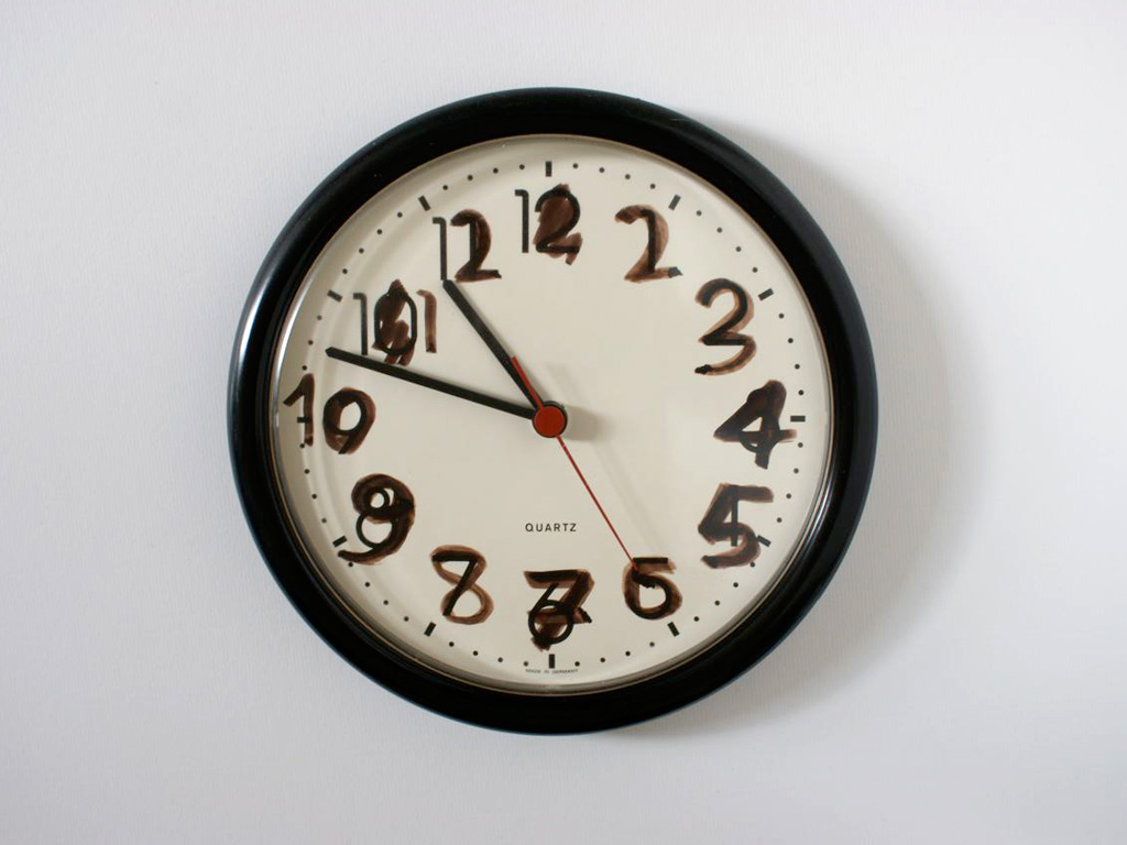 Claude Closky, 'Untitled  (Clock),' 1998, Clock, 3 cm, ø 22,5 cm.