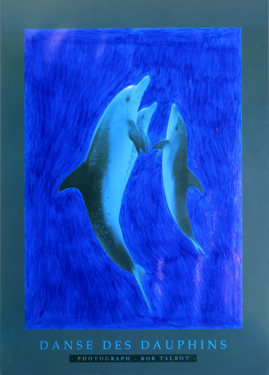 Claude Closky, 'Untitled (Danse des dauphins)', 1992, blue ballpoint pen on printed matter, 60 x 44 cm.