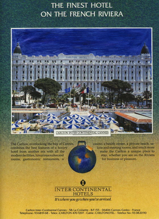 Claude Closky, 'Untitled (The finest hotel on the French riviera)', 1992, blue ballpoint pen on printed matter, 30 x 22,5 cm.