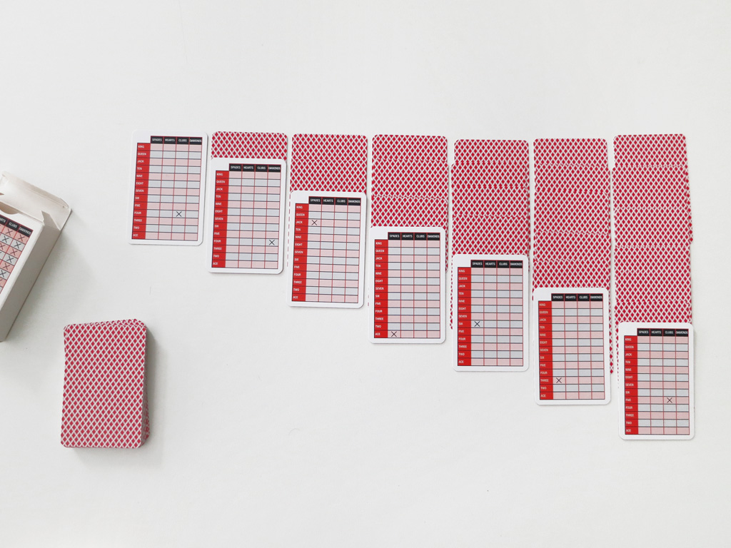 Claude Closky, 'Untitled (card game)', 2005, Luxembourg: Mudam for 'Be The Artists' Guest', 55 playing cards 84,2 x 55,2 mm each.