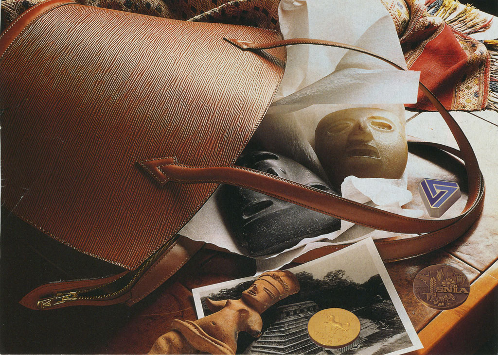 Claude Closky, 'Untitled (hand bag and coins)', 1995, collage, 15 x 21 cm.