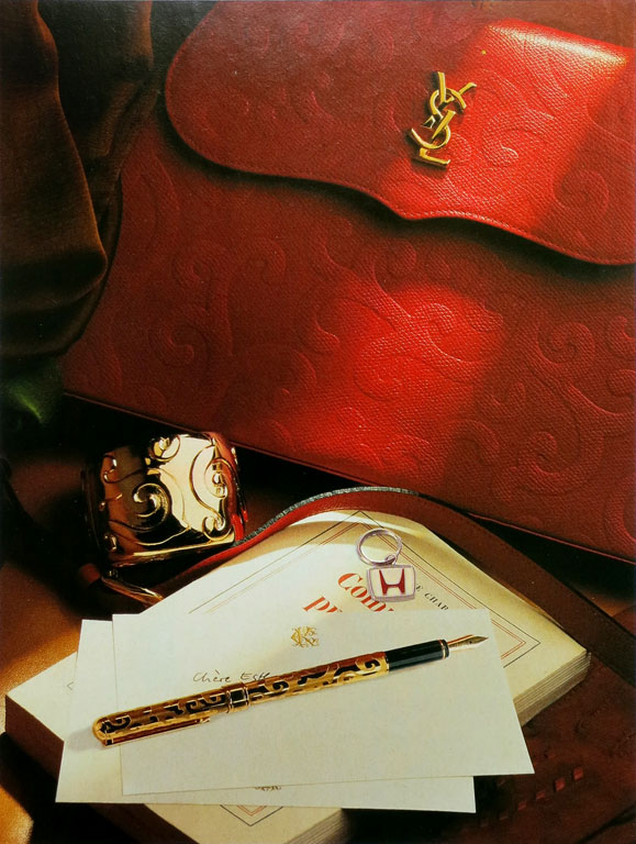Claude Closky, 'Untitled (hand bag and keychain)', 1995, collage, 21 x 15 cm.