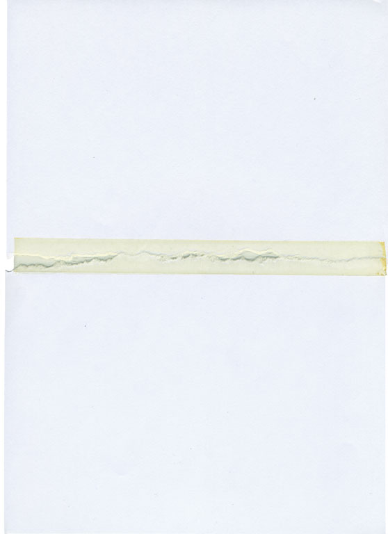 Claude Closky, 'Untitled (ripped and pasted, 2 parts) 2', 1990, paper, tape, 22 x 31 cm.
